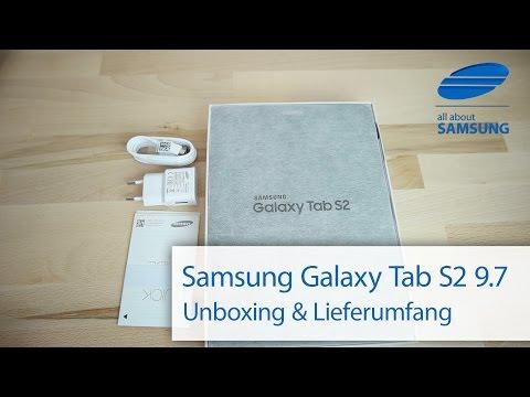 Samsung Galaxy Tab S2 9.7 Unboxing und Lieferumfang deutsch HD