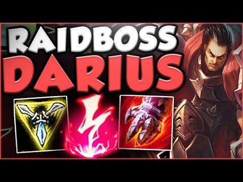 CAN ANYONE TAKE DOWN THIS NEW RAIDBOSS DARIUS?! NEW DARIUS SEASON 8 TOP GAMEPLAY! League of Legends