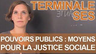 Les moyens des pouvoirs publics pour la justice sociale - SES - Terminale - Les Bons Profs