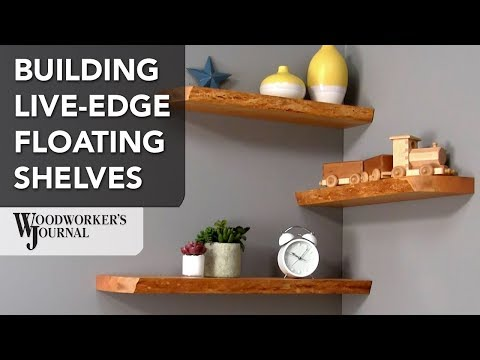 Making Live-Edge Floating Shelves | Woodworking Project