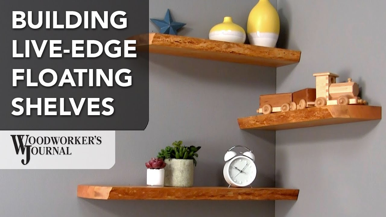 Making Live Edge Floating Shelves Woodworking Project