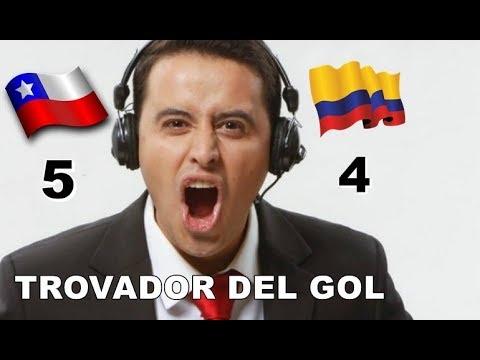 Chile vs Colombia 5-4 - relato Emocionante del Trovador del Gol !!