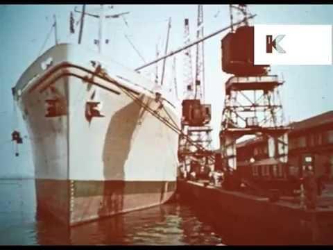 1950s 1960s Sao Paulo Brazil Docks, Exports, Trade