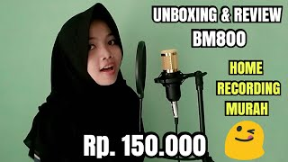 Unboxing & Review Mic Condenser  BM800 | Home Recording Murah