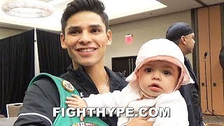 RYAN GARCIA HEARTFELT MOMENT WITH BABY DAUGHTER BEFORE WEIGH-IN: