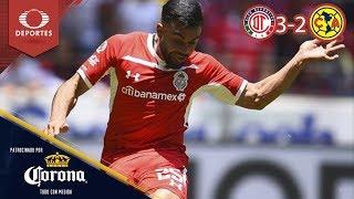 Resumen Toluca 3 - 2 América | Clausura 2019 - Jornada 15 | Presentado por Corona