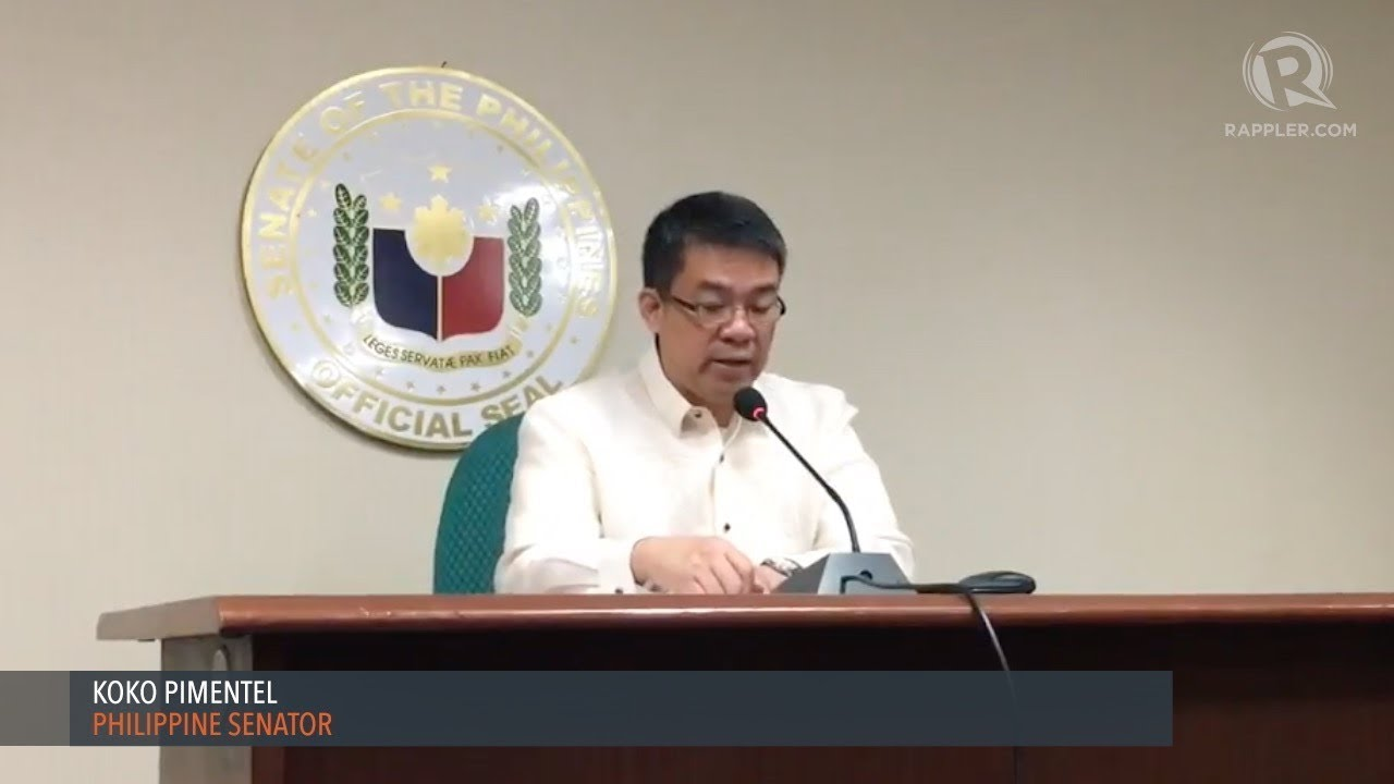 Koko Pimentel Quits As Senate President Youtube