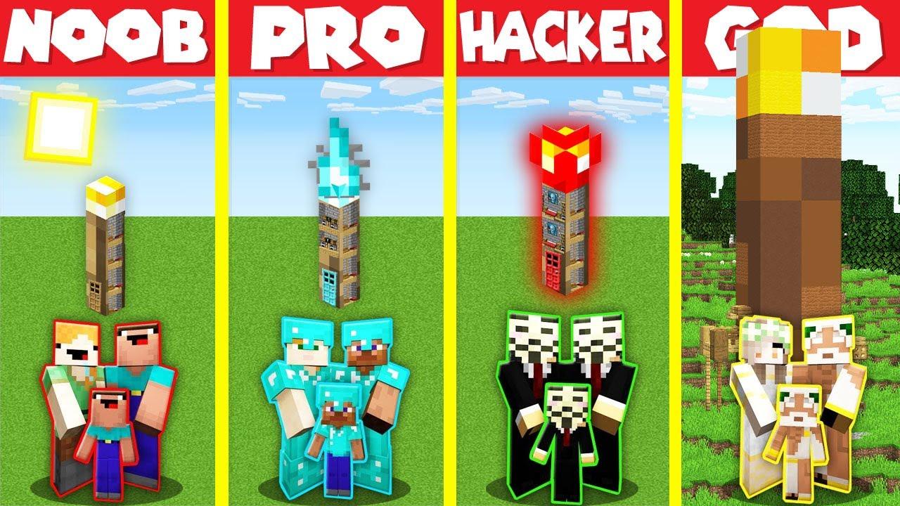 Download Minecraft Battle: INSIDE TORCH BASE HOUSE BUILD CHALLENGE - NOOB vs PRO vs HACKER vs GOD / Animation