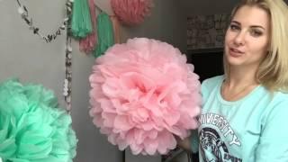 Весенний декор: помпоны и гирлянда из кисточек - 8 Марта! Pom Pom flower