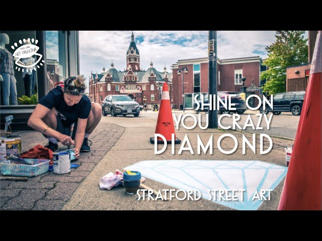 Art Attack: Shine on You Crazy Diamond | Resonance Street Art, Stratford, Ontario | YLAC