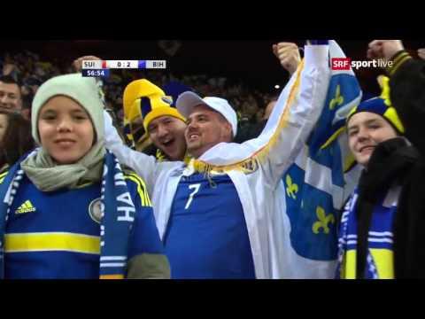 Switzerland vs Bosnia 0:2 Miralem Pjanic Free Kick 29.03.2016