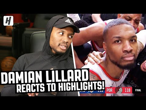Damian Lillard Reacts To Damian Lillard Highlights  The Reel