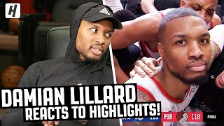 Damian Lillard Reacts To Damian Lillard Highlights!
