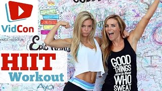 VidCon HIIT Workout | Fat Burning Exercises