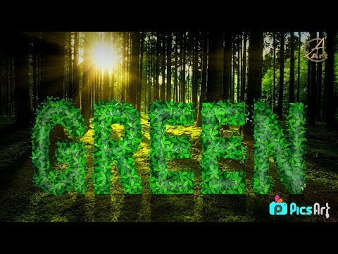 GREEN GRASS TEXT ON ANDROID MOBILE  Edit by...PICSART
