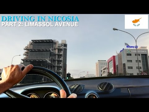 Driving in Nicosia Part 2 | Limassol Avenue, Nicosia