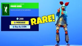 RAREST EMOTE IS BACK..! Finger Guns (New SKIN item shop) Fortnite Battle Royale