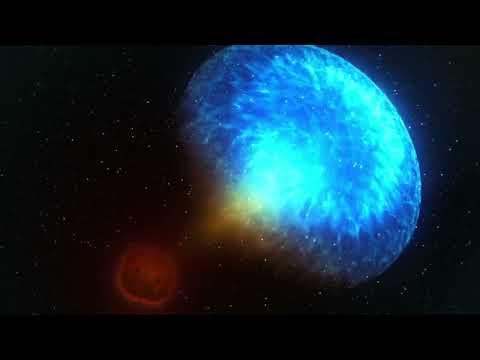 Neutron Star Merger Sets Off Gravitational Wave - NASA Animation