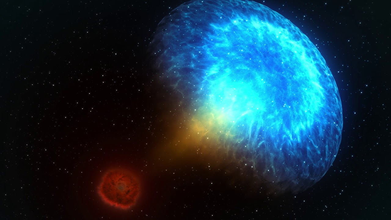 Neutron Star Merger Sets Off Gravitational Wave - NASA Animation