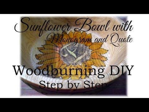How to Woodburn a Sunflower on a Wooden Bowl DIY
