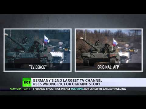 German TV channel caught red faced airing fake 'Russian tanks in Ukraine' pictures
