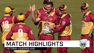 Highlights: Victoria v Queensland, Marsh One-Day Cup 2019