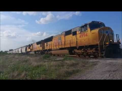 Union Pacific Trains Around Central Texas - July 9, 2016