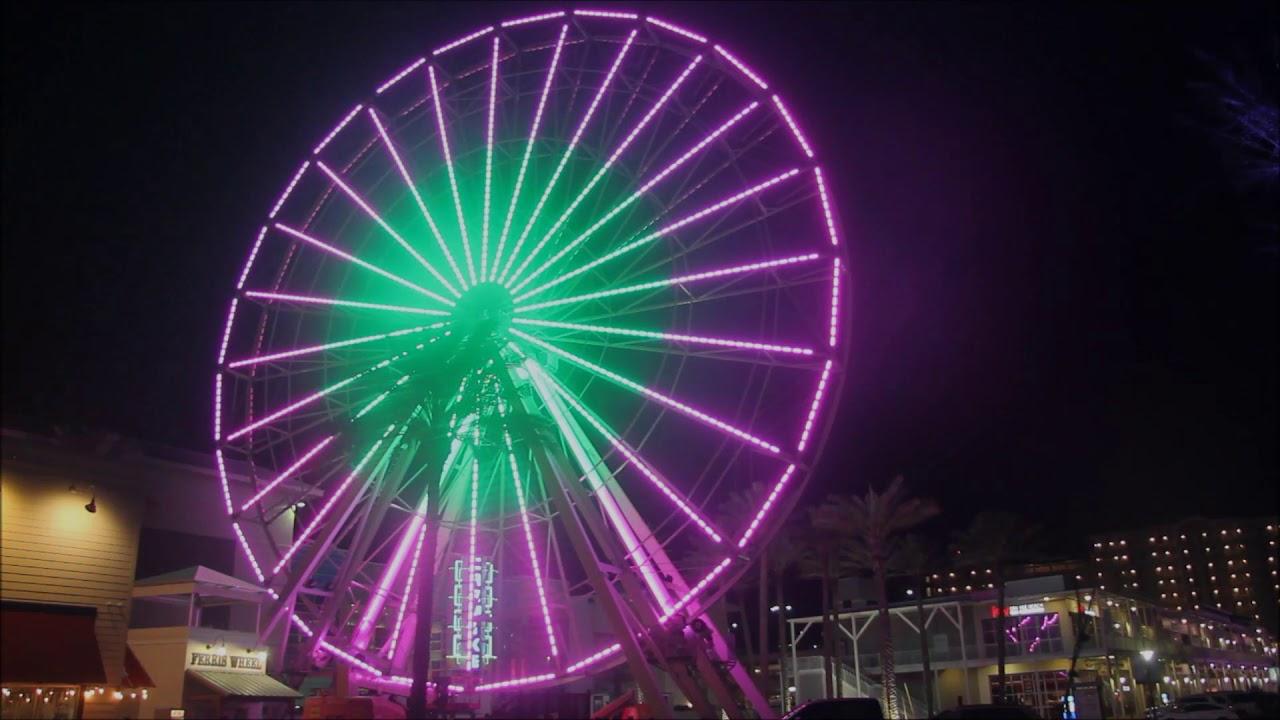 The Wharf Ferris Wheel Light Show You