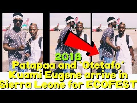 Patapaa and 'Otetafo' Kuami Eugene finally meet in Sierra Leone for ECOFEST
