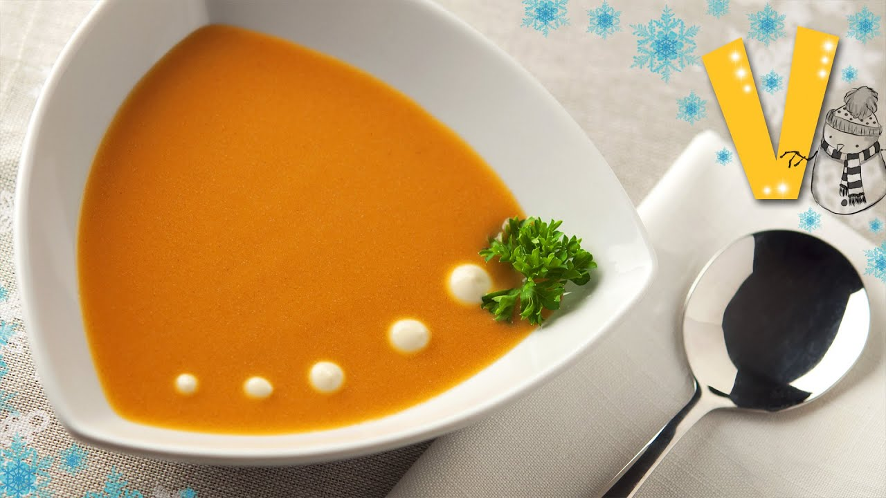 Sweet potato soup | The Vegan Corner - YouTube