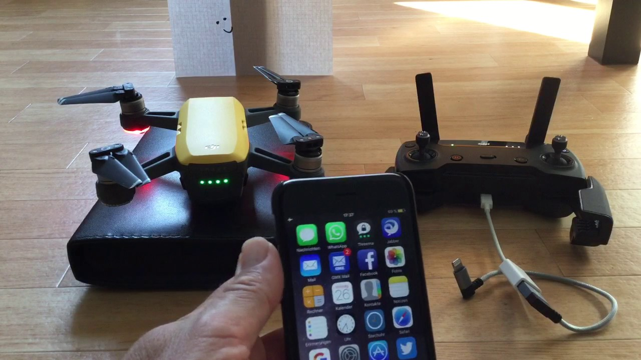 connecting the dji spark with the iphone via usb