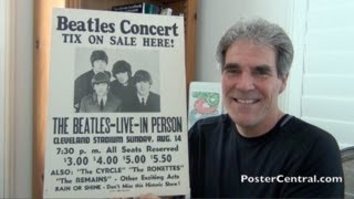"Beatles Concert Poster 1966 Cleveland - ""Tix On Sale Here!"" Sign"