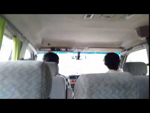 Tour bus rush to next place in Cambodia