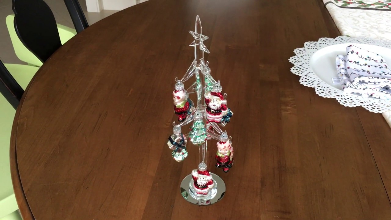Miniature Glass Christmas Tree With Ornaments Youtube