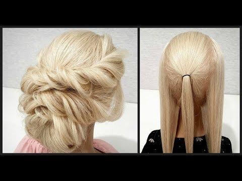 Греческая прическа. Легкий вариант для Самой Себя. Greek hairstyle. Easy option for Yourself. thumbnail