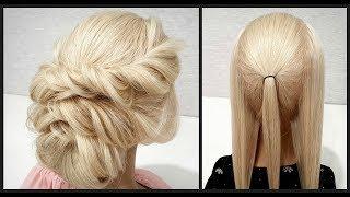 Греческая прическа. Легкий вариант для Самой Себя. Greek hairstyle. Easy option for Yourself.