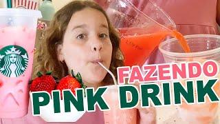APRENDA FAZER O PINK DRINK DO STARBUCKS SUPER FACIL