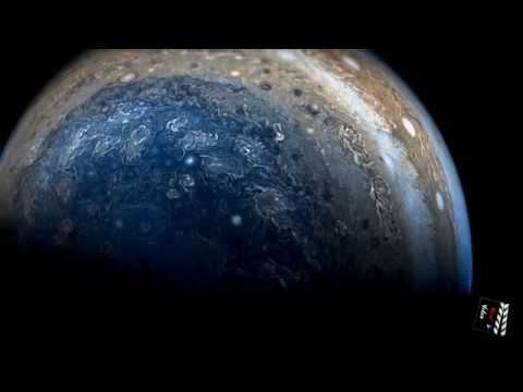 This 4K video was edited from the latest photos taken by NASA's Juno in Jupiter overflight