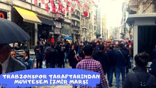Trabzonspor taraftarları İzmir Marşı ile Vodafone Park'a yürüyor!