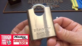 (1322) Master Lock Stainless Dimple Padlock Picked Open