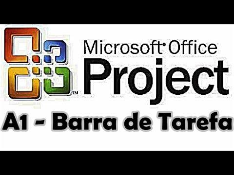 Curso de Ms Project 2007 Aula 1 - Conhecendo Barra de Ferramenta