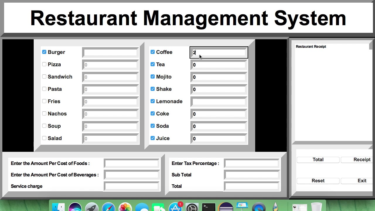 Python Tutorial - How to create Restaurant Management System by using Python