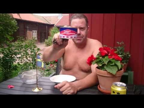 Surstromming! Tarmo eat a can of fermented herring in one minut. The world's most disgusting food.