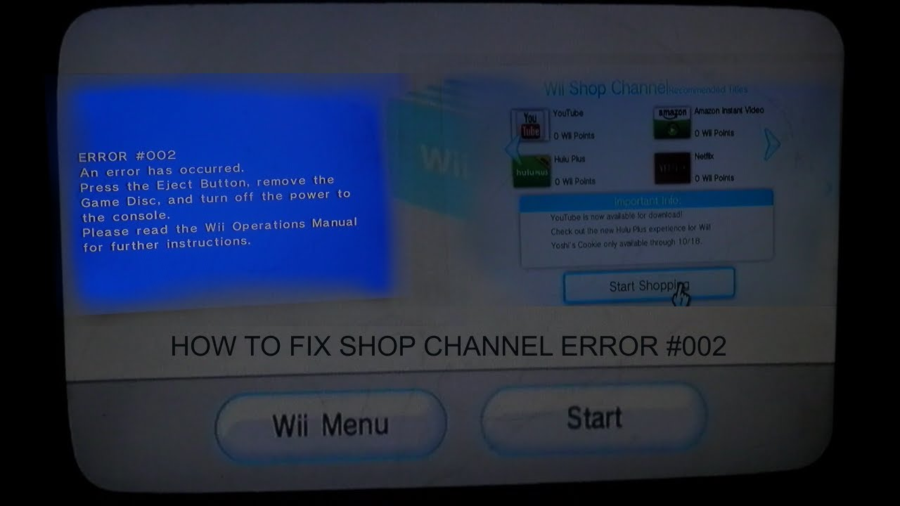 how to fix shop channel v21 002 error on wii youtube rh youtube com Wii Disc Error Nintendo Wii Operations Manual