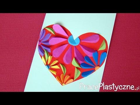 Jak Zrobić Laurkę Na Dzień Mamy Z Kwiatowym Sercem?