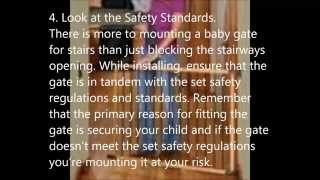 10 Tips For Hardware Mounting A Top Of Stair Baby Gate