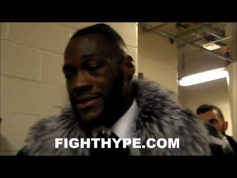 DEONTAY WILDER REVEALS WHAT HE TOLD BERMANE STIVERNE IMMEDIATELY AFTER KNOCKING HIM OUT
