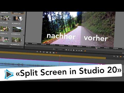 Pinnacle Studio 20 Deutsch Split Screen vorher nachher Video vergleich Zuschneiden Video Tutorial