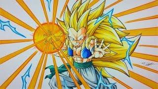 Drawing GOTENKS Super Saiyan 3 ENERGY BLAST | TolgArt