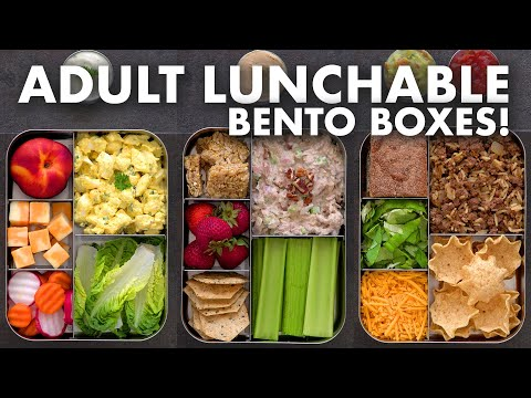 Bento Box Lunch Ideas for Work & School – Adult LUNCHABLES!